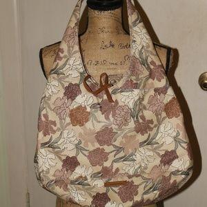 Lucky Brand Mia Floral Woven Hobo Bag